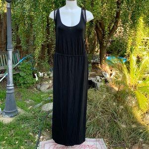 AVA & VIV Black Long Maxi Dress Crochet Plus Sz 3X
